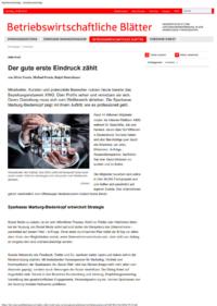 Ralph Dannhäuser: Fachartikel Betriebswirtschaftliche Blätter